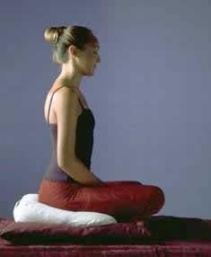 Posición de meditación